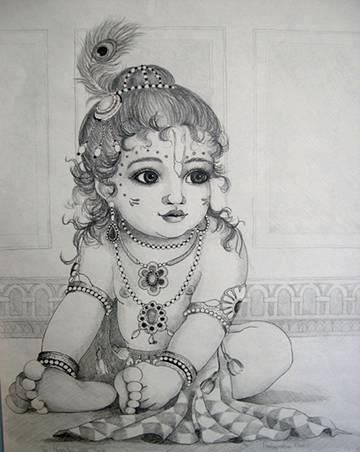 Lord Krishna Sketches | Cartoon Photos