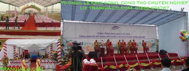 Tổ chức sự kiện Trần gia- Tổ chức lễ khởi  công động thổ chuyên nghiệp