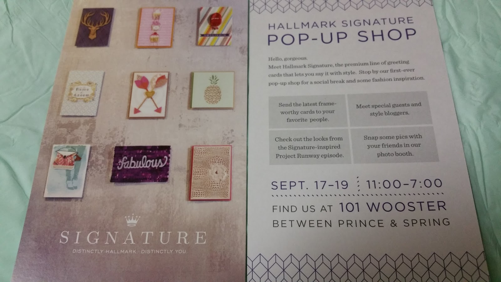 Terresas steals and deals ends 919 hallmark signature pop hallmark signature pop up shop ends saturday september 19 2015 at 7pm 101 wooster street between prince and spring street fandeluxe Choice Image