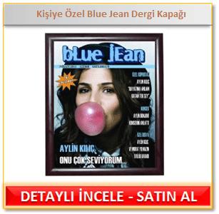 Kişiye Özel Blue Jean Dergi Kapağı