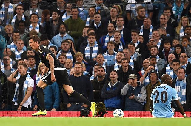 Mandzukic iniciou a virada da Juventus contra o City atuando no Etihad Stadium (Foto:AFP/Paul Ellis)