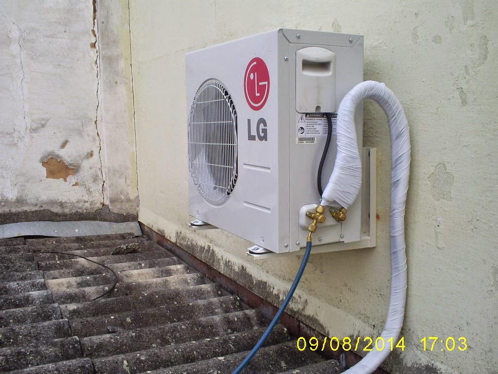 Split LG instalado em loja da Rua Tereza-Petrópolis-RJ