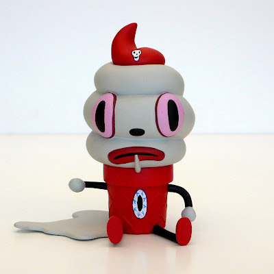Toby Edition Creamy Vinyl Figure by Gary Baseman