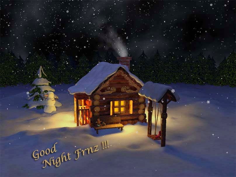Loving2you lovely good night wallpapers winter time good night voltagebd Images