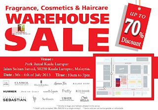 Fragrance, Cosmetics & Haircare Warehouse Sale 2013