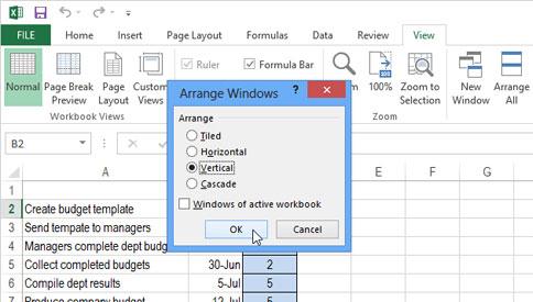 Cách mở nhiều Table cạnh nhau trong Excel 2013 5