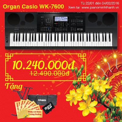 khuyen mai organ casio wk7600