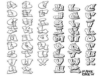 Graffiti Alphabet A-Z Sketch Type