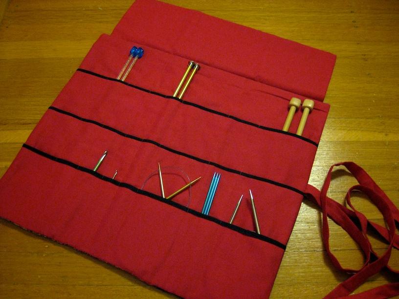 Knitting Needle Case Diy : La petite josette how about some diy a knitting needle case