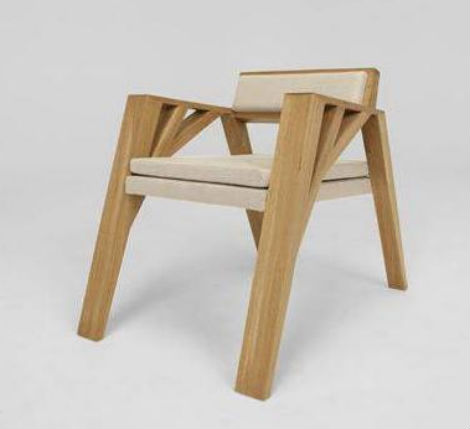 Fauteuil Simple Wooden Chair By Olivier Dollé Muhammad Hanpi - Fauteuil simple