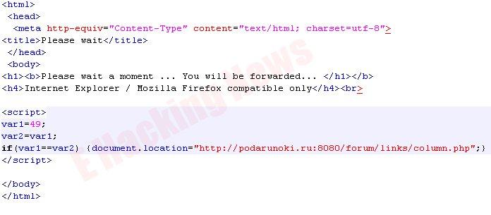 malicious script
