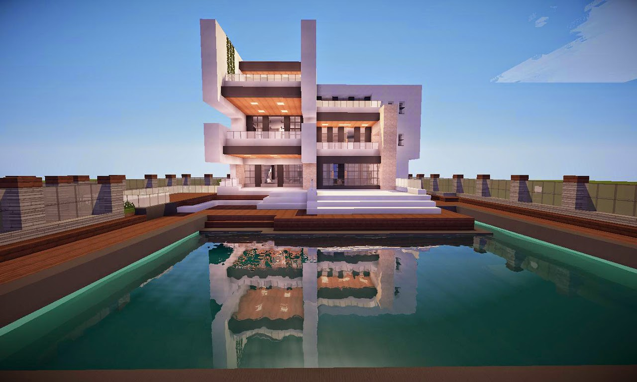 Casas modernas no minecraft for Casas modernas grandes minecraft