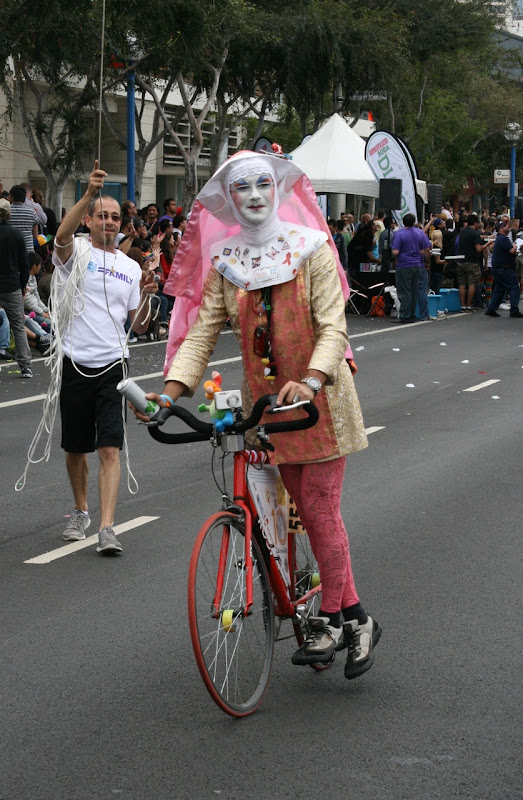 Sister cyclist WEHO Pride Parade
