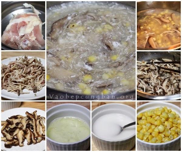 Cách nấu Súp Gà nấm hương [Soup] 1