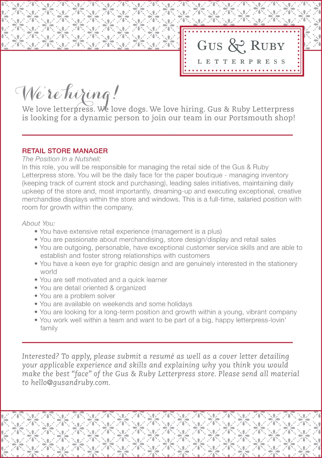 cover letter retail store manager Cover letter sample of a retail manager with over 8 years of experience here is an example of a cover letter for a store manager resume that you may customize for.