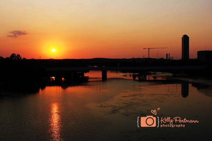 South Congress Bridge, Austin Sunset, Austin Photographer, Kelly Portmann