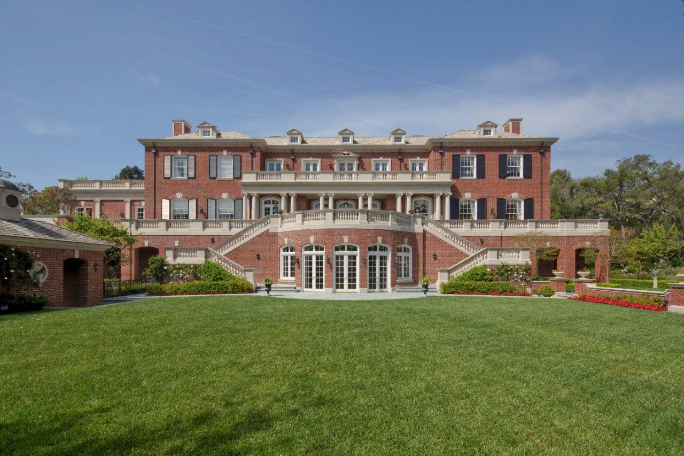 Homes &amp Mansions: Rosewood Estate in Bel Air CA - Pool Guest House Plans