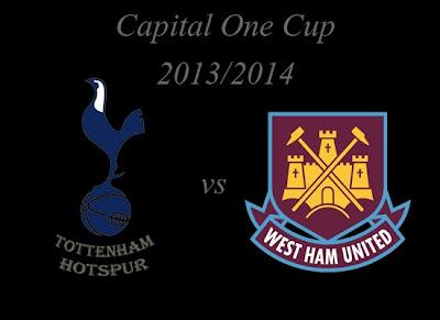 Tottenham Hotspur vs West Ham United Capital One Cup 2013