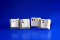 This is a picture of keyboard keys spelling out blog.