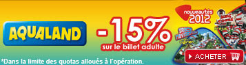 Carrefour spectacles: -15% de réduction pour le parc Aqualand
