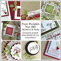 November 2015 Paper Pumpkin Mistletoe & Holly Alternative project ideas from Julie Davison #paperpumpkim
