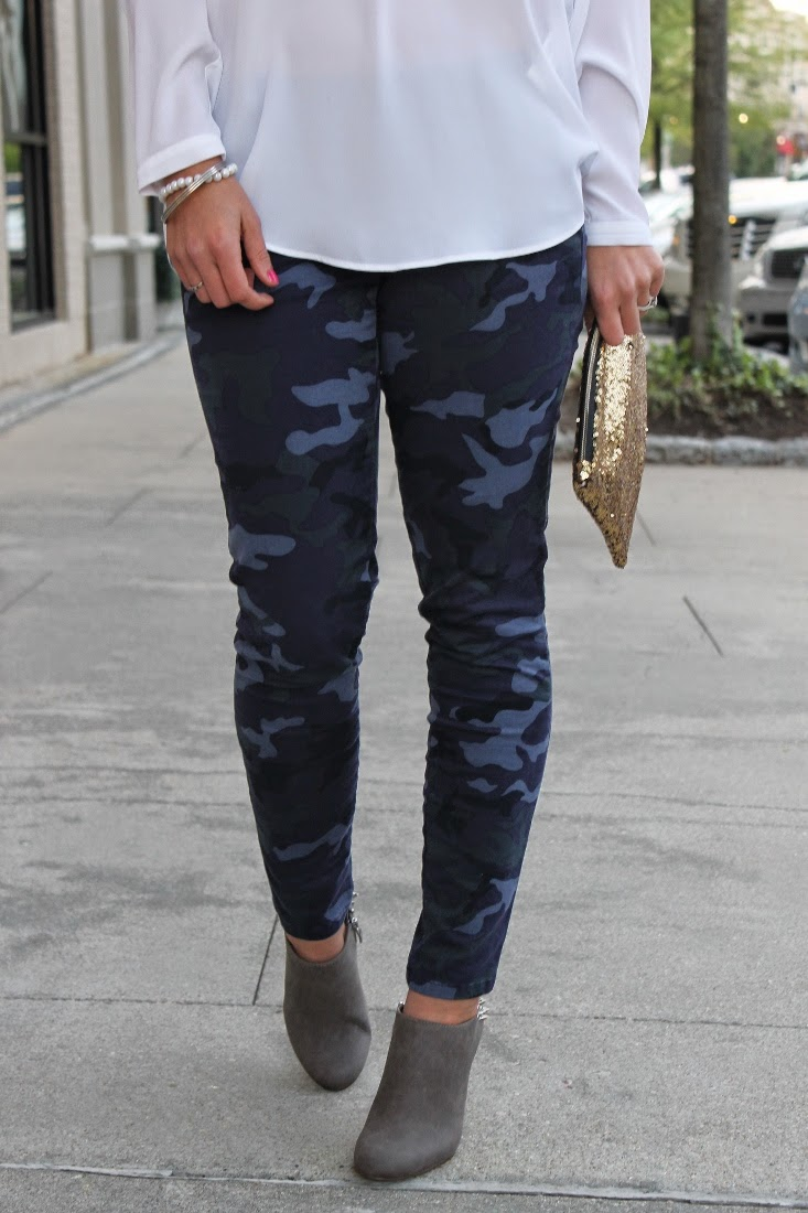 Navy Camo Pants