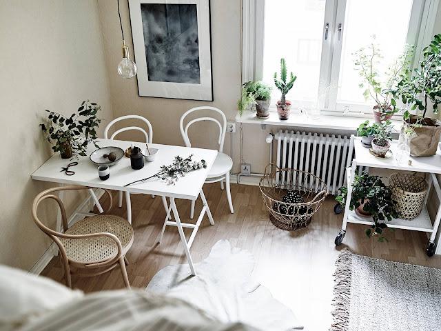 Vista del comedor de esta pequeña vivienda