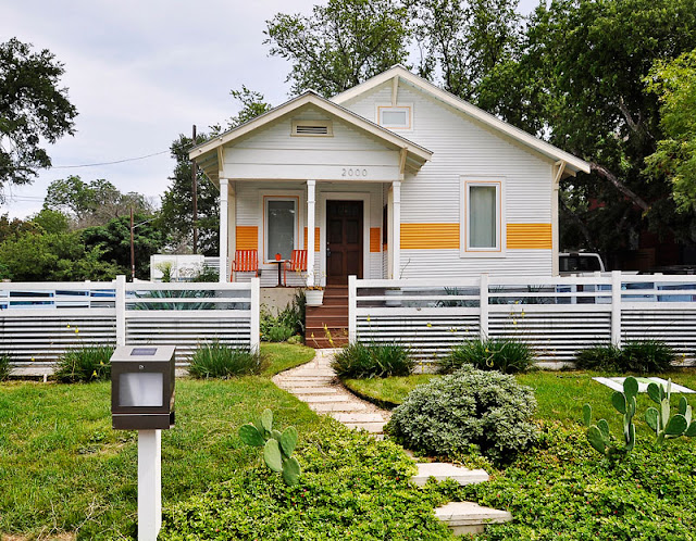Hatchworks small house with orange stripe
