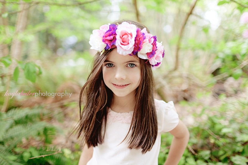 Floral headpiece photo