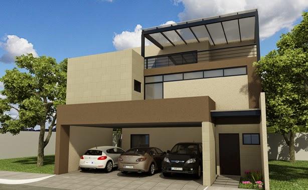 anahuac olinto residencial fachada de casas contemporanea elegante