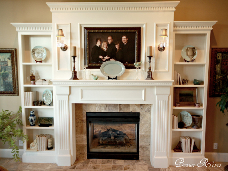 Fireplace mantels on pinterest mantels fireplaces and for Living room built ins ideas
