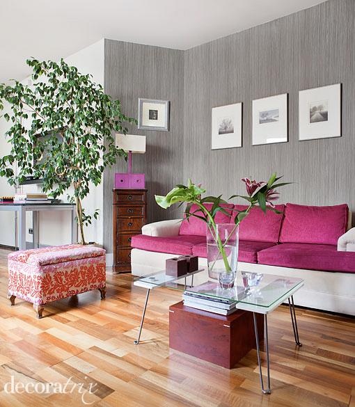 Paleta de colores de hoy gris y rosa - Decoracion salon gris y blanco ...