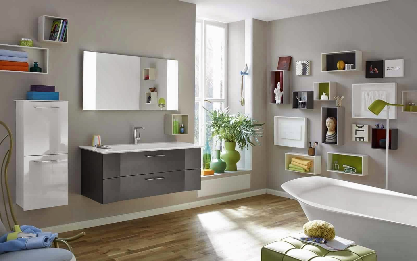 meuble salle de bain gris meuble d coration maison. Black Bedroom Furniture Sets. Home Design Ideas