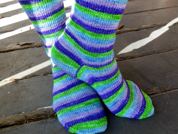 self-striping sock yarn