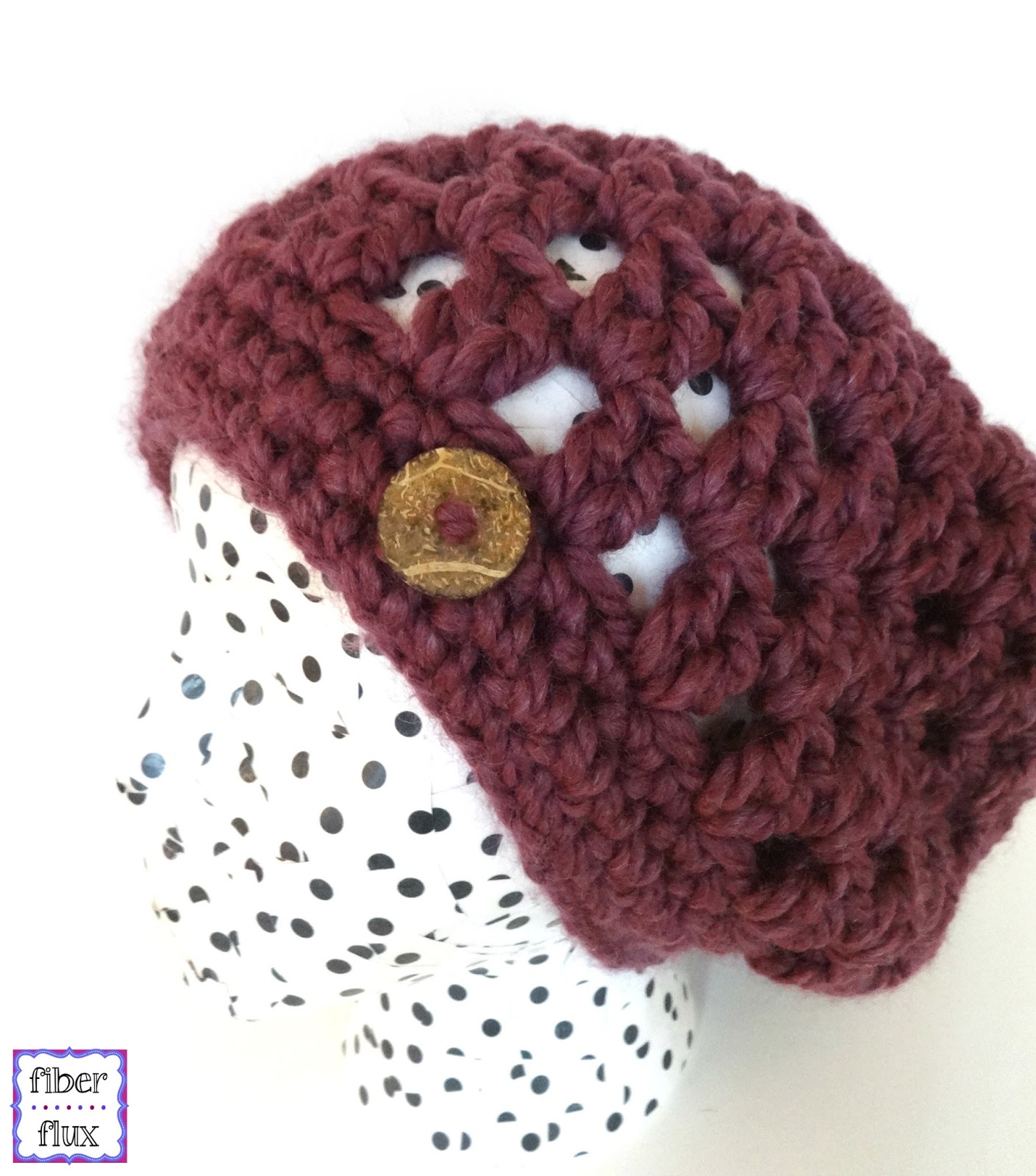 Free Crochet Pattern For Button Scarf : Fiber Flux: Free Crochet Pattern...Fiona Button Slouch!