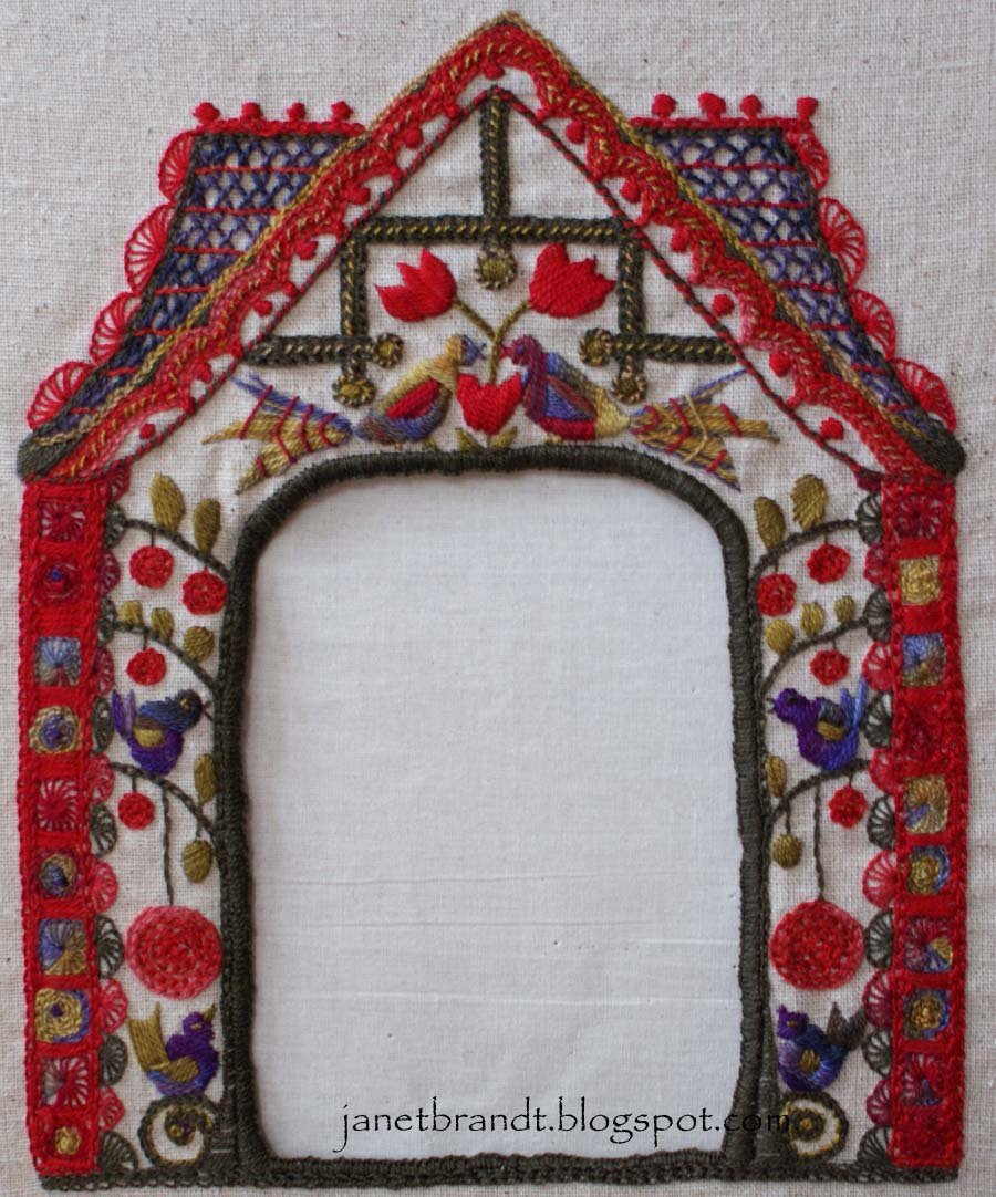 Janet Brandt : An Embroidered Frame