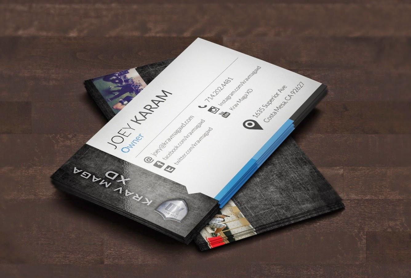 business card for krav maga xd