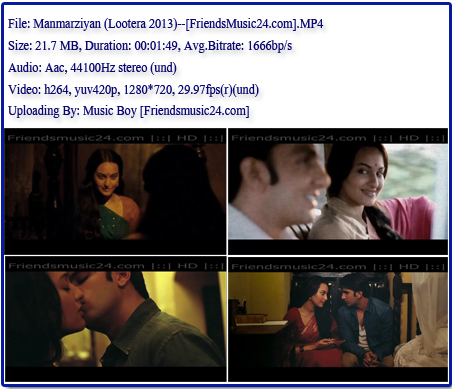 Manmarziyan (Lootera 2013) 720p Hd Video Songs - Videozone24.com