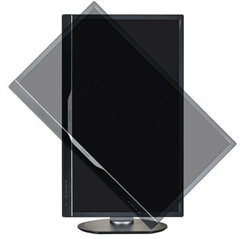 A base do monitor Philips 4K de 28 polegadas permite que ele seja usado na horizontal ou vertical