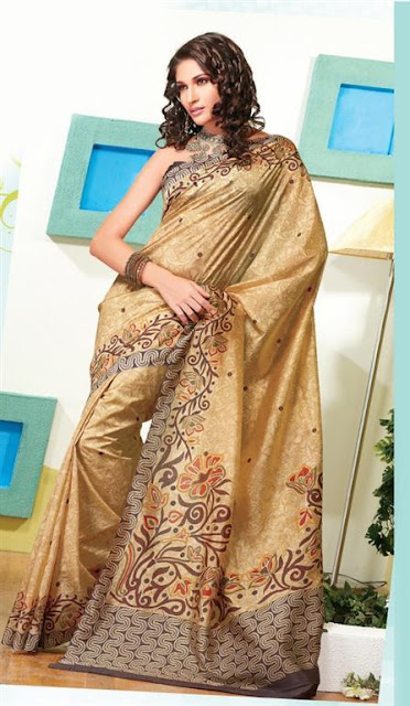 Fashionable Party Saree Trends 2012