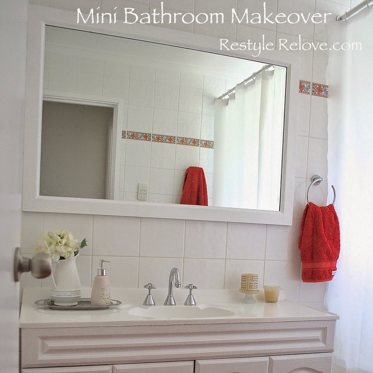 My small bathroom mini makeover is complete for My small bathroom