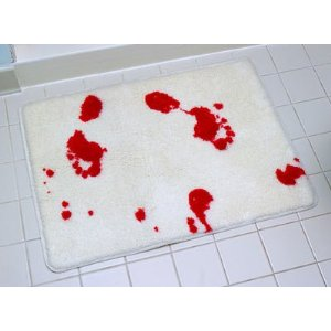 Mystery fanfare june 2011 for Psycho shower curtain and bath mat