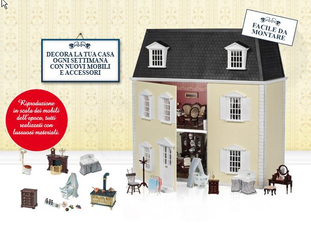 Infoedicola casa delle bambole rba in edicola for Come costruire la tua casa