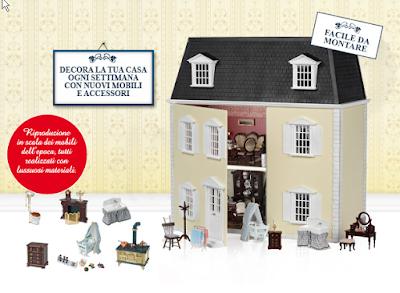 Infoedicola casa delle bambole rba in edicola for Piani casa colonica vittoriana