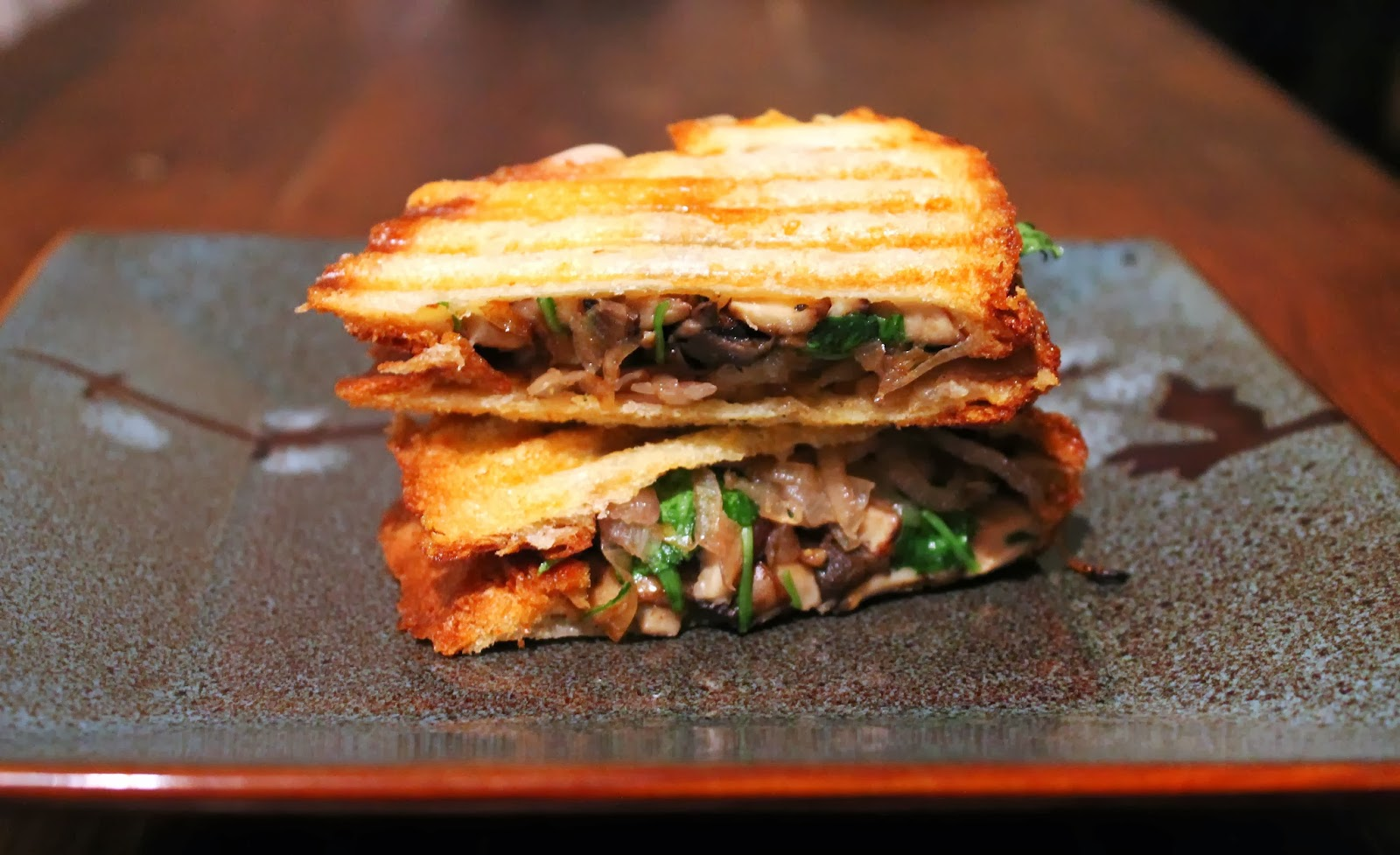 Zou Bisou Beef Stew: Wild Mushroom, Caramelized Shallot & Brie Panini