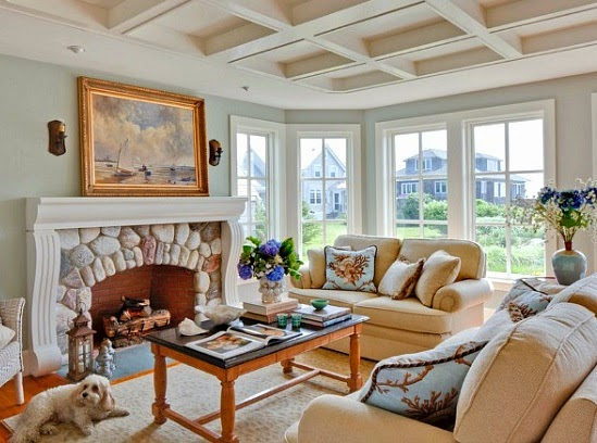 New England Style new england nautical style living rooms - completely coastal