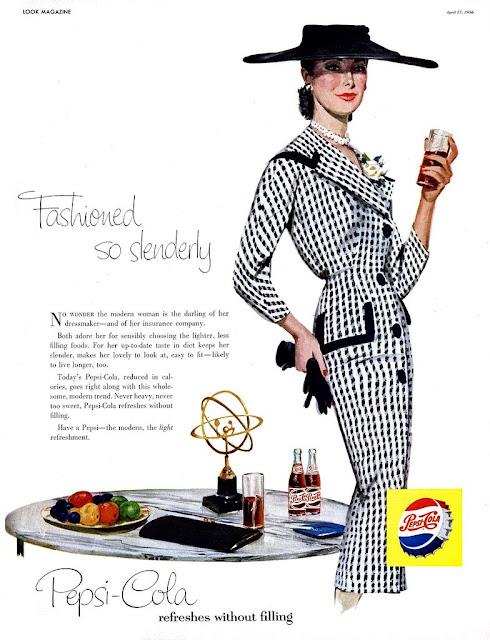 Propaganda da Pepsi para todos os estilos em 1956.