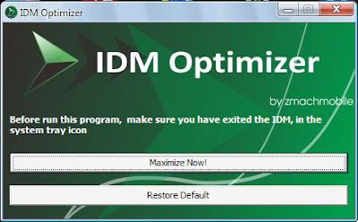 IDM Optimizer - Cara Mempercepat Kinerja IDM