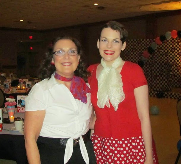 Suzanne Amlin, Cindy Amlin, A Coin For the Well, Village of Aspen Lake 50s dinner, 1950s retro themed