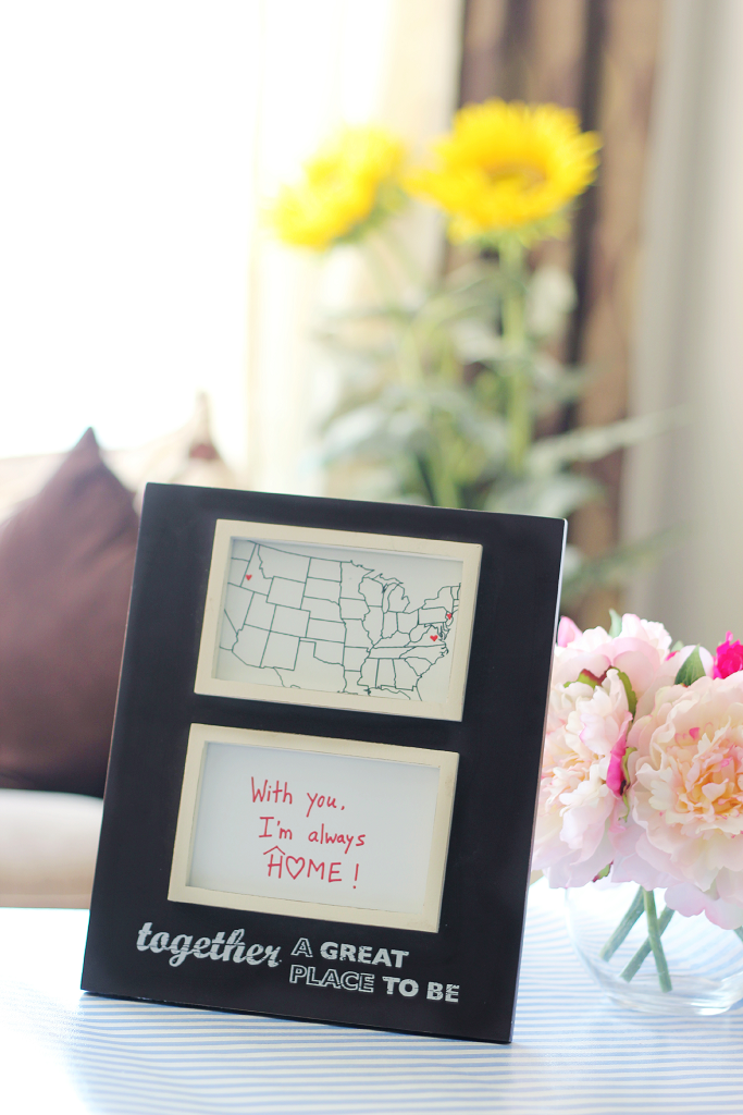 Valentine's Day DIY gifts ideas, Valentine's day gift ideas for him, Home is where heart is map DIY, #LoveOurVDay #CollectiveBias